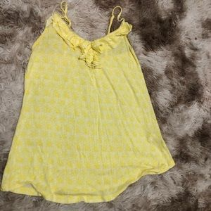 Yellow ruffle top tank from old navy